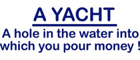 A Yacht, a hole in....
