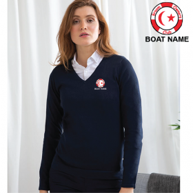 OW Ladies 12 Gauge V-neck Jumper (HB721)