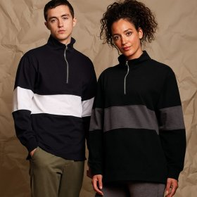 Panelled Quarter Zip Sweat Shirt (FR06M)