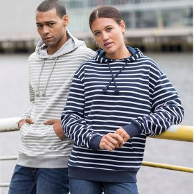 Nautical Unisex Stripe Hoody (JH018)