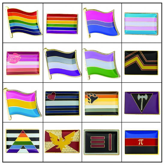 Pride Pin Badges [PIN] - £2 50 : World Leisurewear, Embroidery