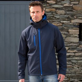 Mens Hooded Softshell Jacket 3ply