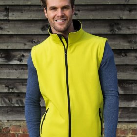 Mens Softshell Gilet 2ply (R232M)