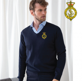Mens 12 Gauge V-neck Jumper (HB720)