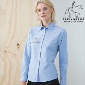EQ Delux Oxford Shirt, Ladies Long Sleeve (HB511)