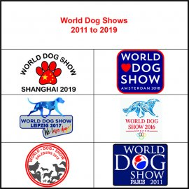 World Dog Shows 2011 to 2019
