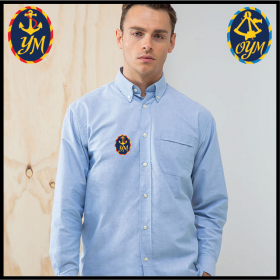 YM Delux Oxford Shirt, Mens Long Sleeve (HB510)