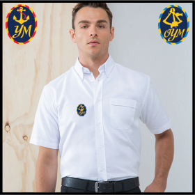 YM Delux Oxford Shirt, Mens Short Sleeve (HB515)