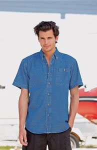 Denim Shirt Short Sleeve Heavyweight (FR11M)