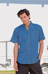 Denim Shirt ShortSleeve (FR14M)