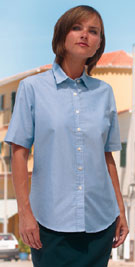 Delux Oxford Shirt, Ladies Short Sleeve