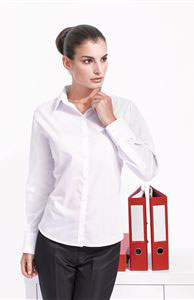 Poplin Shirt Ladies Long Sleeve