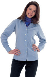 Oxford Shirt Ladies Long Sleeve
