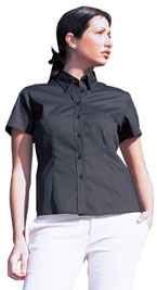 Oxford Shirt Ladies Short Sleeve